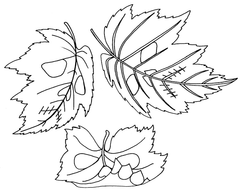 Wenchkin's Coloring Pages - Falling Leaves title=
