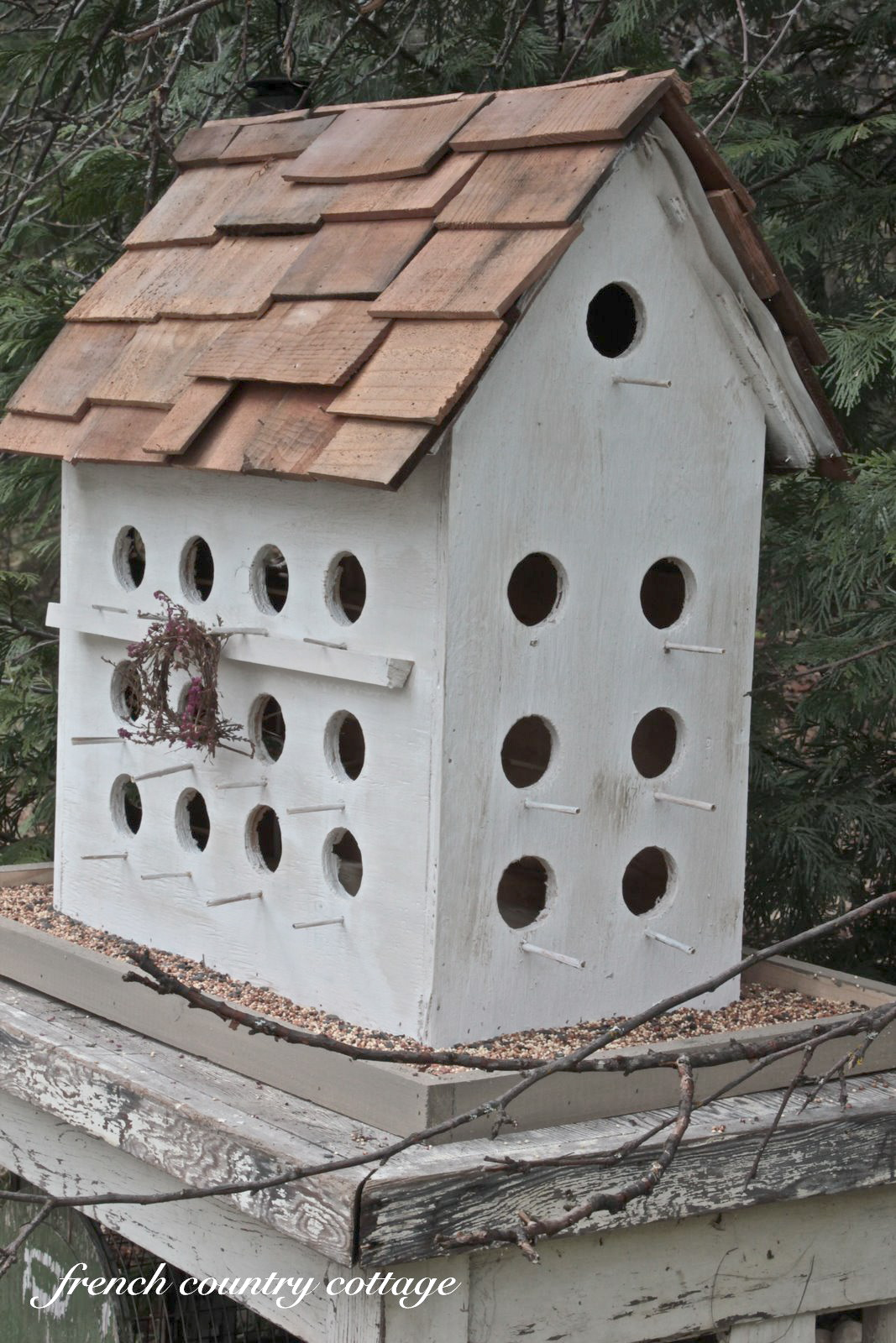 A wee little birdhouse french country cottage for Building a quail house