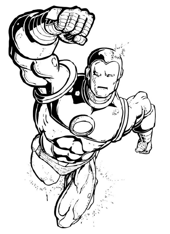 Superhero Coloring Pages For Kids title=