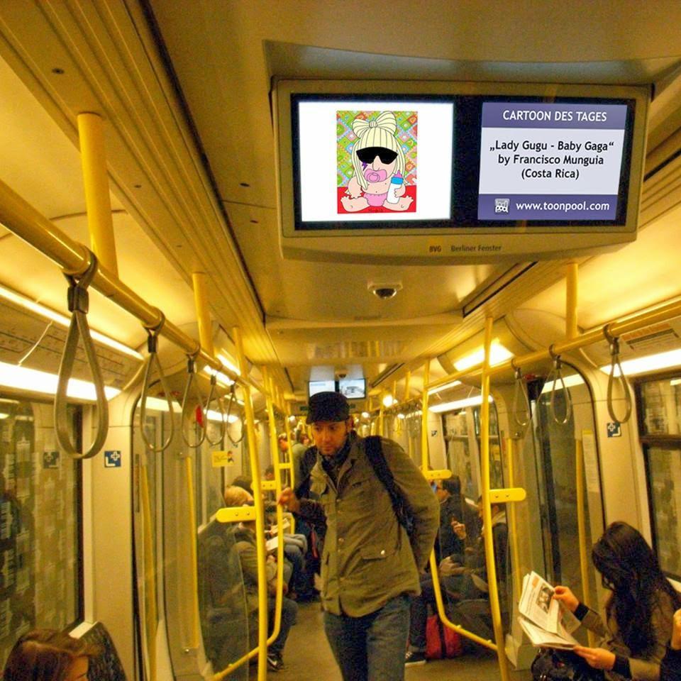 CalcaMunguías en el Metro de Berlín