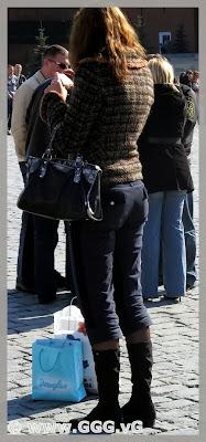 Girl wearing navy jeans