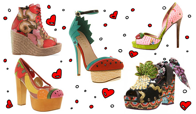 Shoes, Fruit, Ego and Greed, Jeffrey Campbell, Irregular Choice