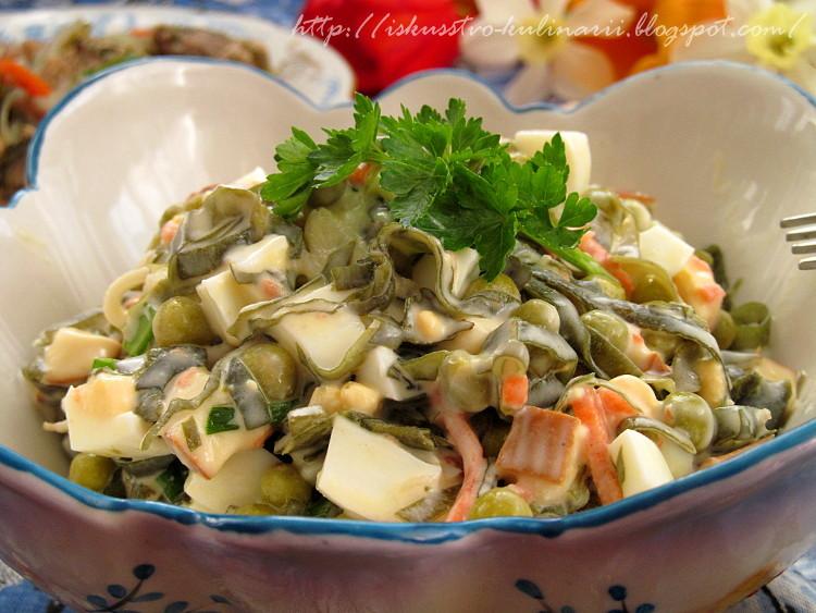 Салат с морской капустой рецепт с и с сыром