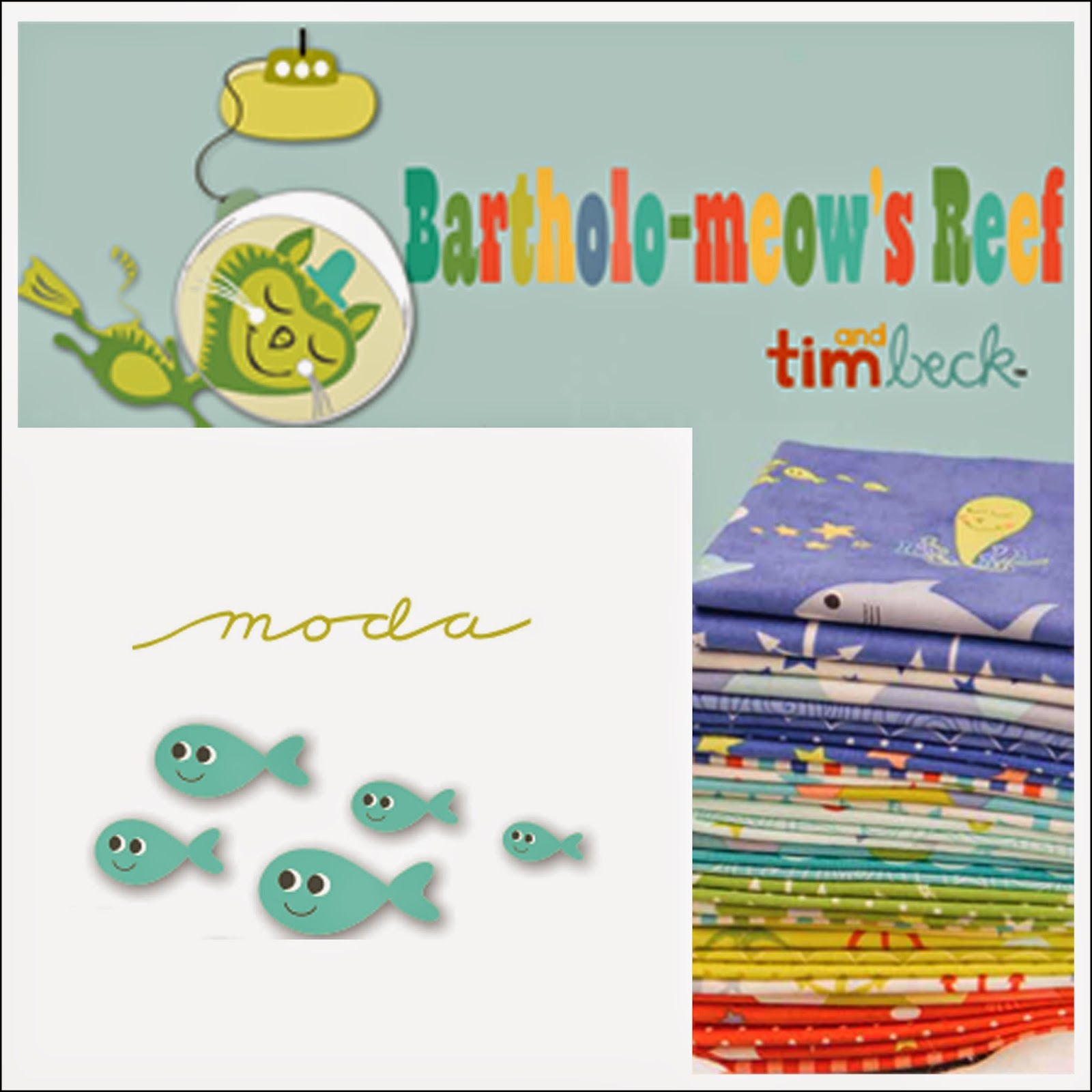 Moda BARTHOLO-MEOW'S REEF Quilt Fabric by Tim and Beck