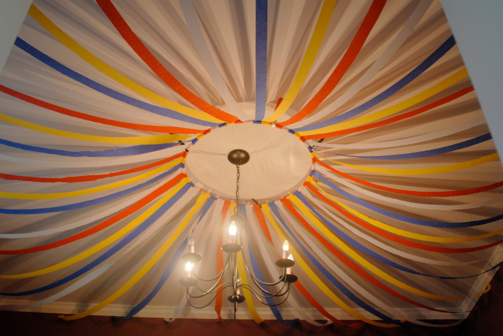 The rosier rundown the rosier three ring circus came to town for Balloon and streamer decoration ideas