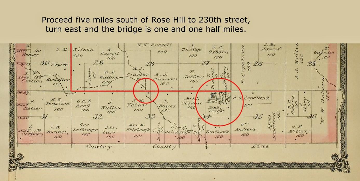 Kansas gray county copeland - Directions Using Richland Township Butler County Atlas 1887