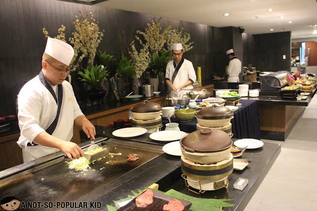 Preparing the Beef Teppanyaki