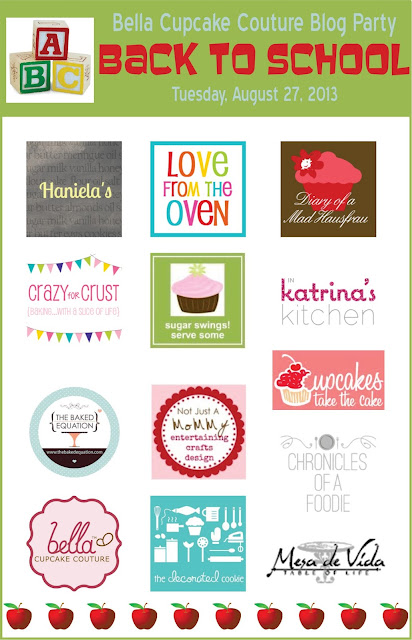 Back to school Bella Cupcake Couture blog party; almost $400 in prizes, ends 9/2