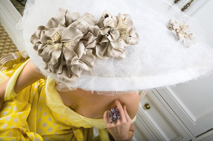 via fashioned by love | Anya Caliendo | Couture Millinery | Anna Pavlova (Part of the Je Ne Regrette Rien 2008 collection)