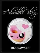 """Premio """"Adorable Blog"""" recibido de mi amiga Rosy !!"""