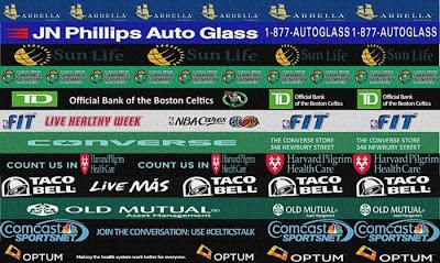 NBA 2K13 Boston Celtics Sideline Sponsors Patch