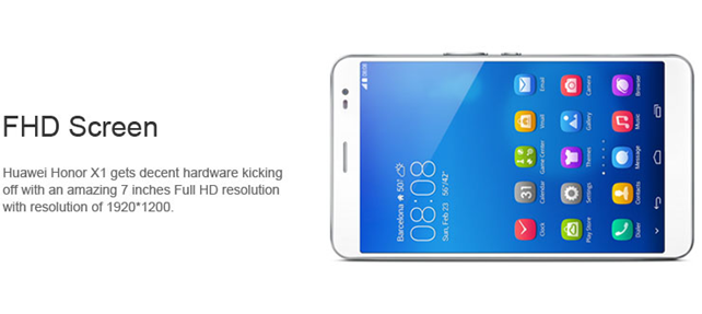 The new Huawei Honor X1 gets a 7 inch FHD screen