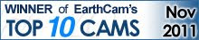 EarthCam is pleased to announce that your webcam has been chosen as one of our Top 10 Cams.