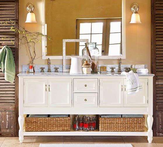 DECORA INTERI Cestos Decorativos na decoração -> Decoracao Banheiro Cestos