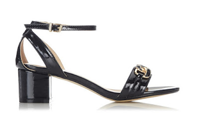 Wallis black low heeled sandals
