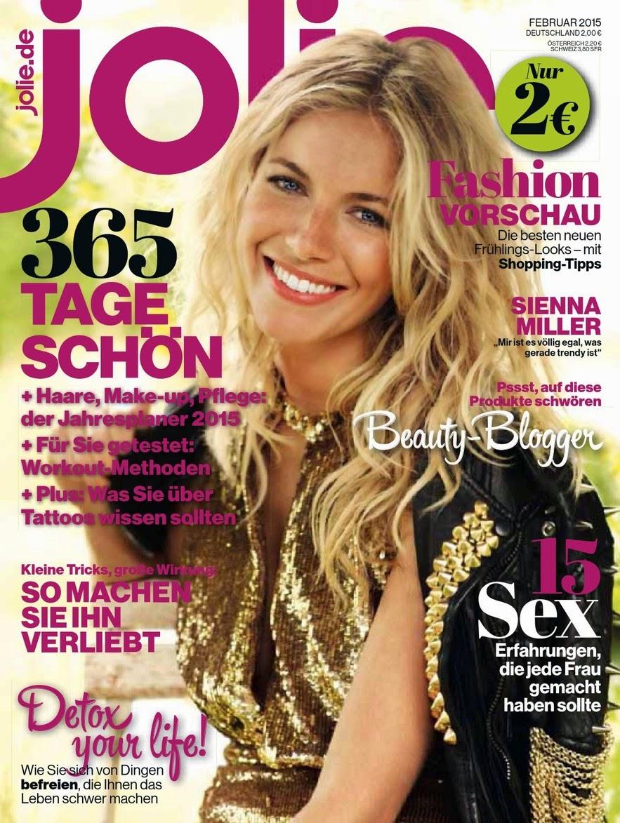 Sienna Miller - Jolie Magazine, Germany, February 2015