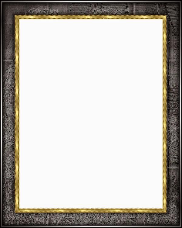 Marcos de color negro con fondo transparente arte digital - Marcos transparentes ...