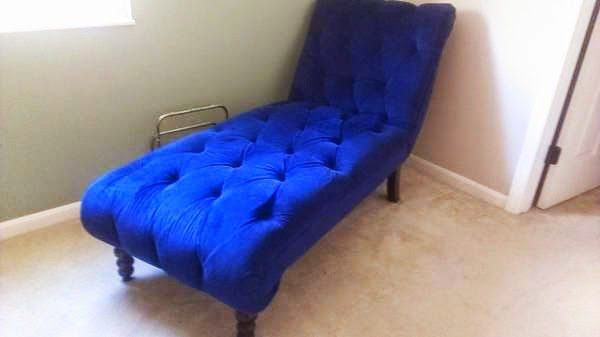 As Seen On Craigslist - Cobalt Blue Chaise Lounge : blue velvet chaise lounge - Sectionals, Sofas & Couches