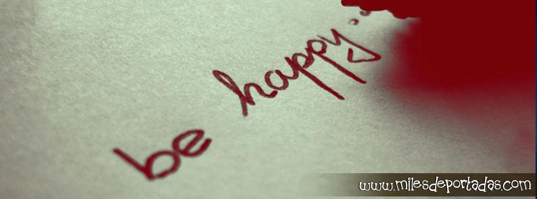 Portada para con frases Frases de Amor Be Happy