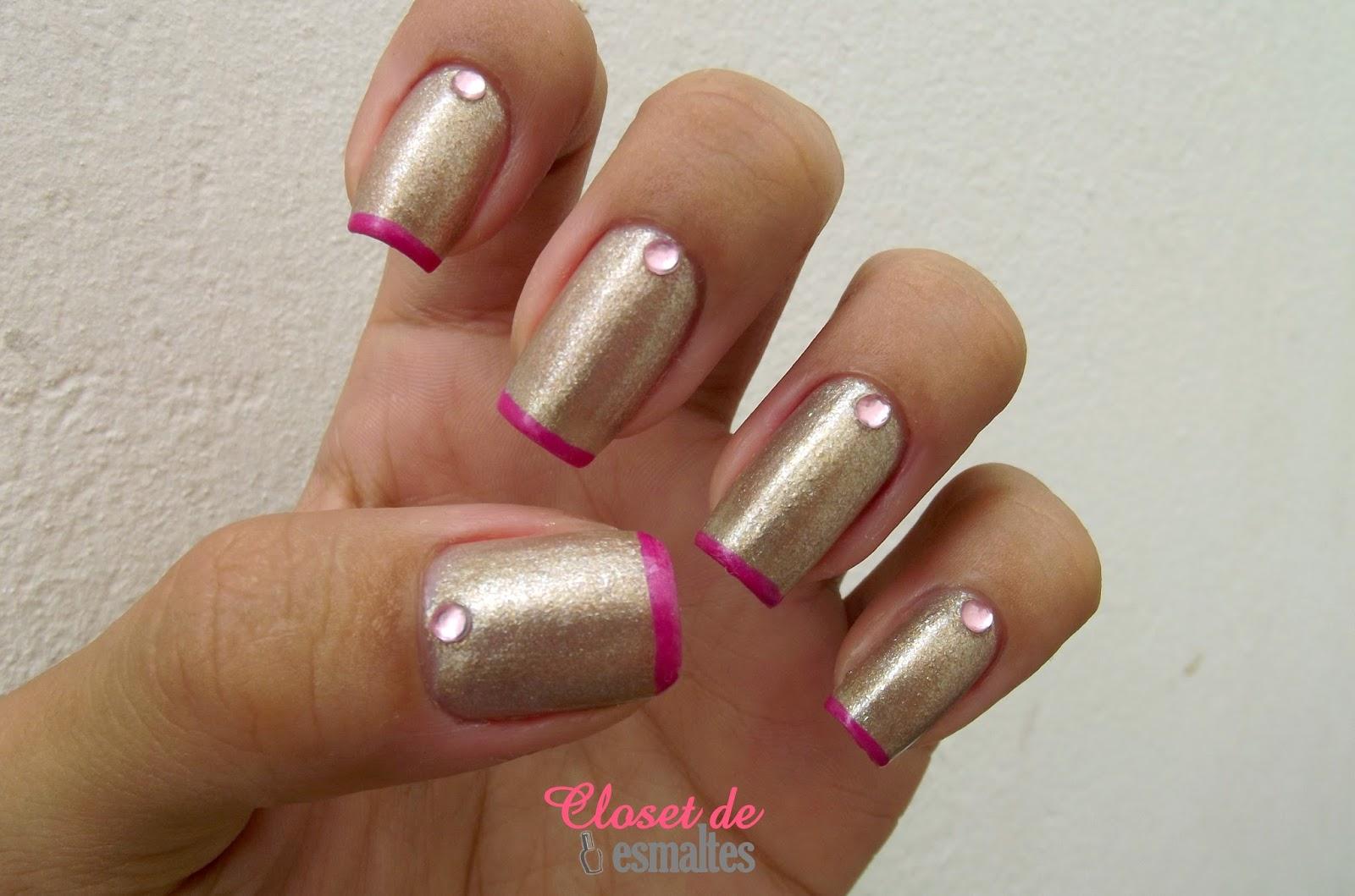 Francesinha Rosa, esmalte musa avon, esmalte magic flow hits, esmaltes, unhas, nail art, francesinha, closet de esmaltes,