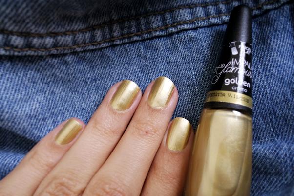 Esmalte Impala: Golden dourado unhas nails