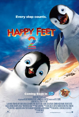 Cartel internacional de Happy Feet 2, dirigida por George Miller