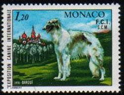 1978年モナコ公国 ボルゾイの切手