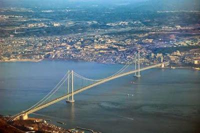 Longest Suspension Bridge Akashi Kaikyō Japan