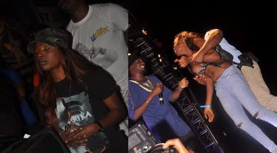 8th 2015 During The Star Music Trek SapeleRocks Concert After She Desperately Beat Venue Security And Ran Onstage While 2face Was Performing