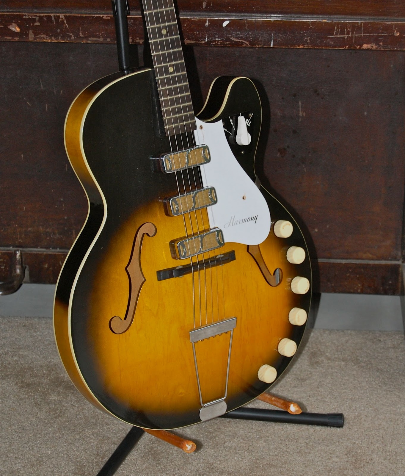 Galasso Guitars 1963 Harmony Rocket H59 with 3 Rowe Industries