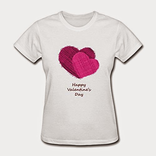 Women's Hearts Valentines Day Create My Own O-Neck By DINGDING