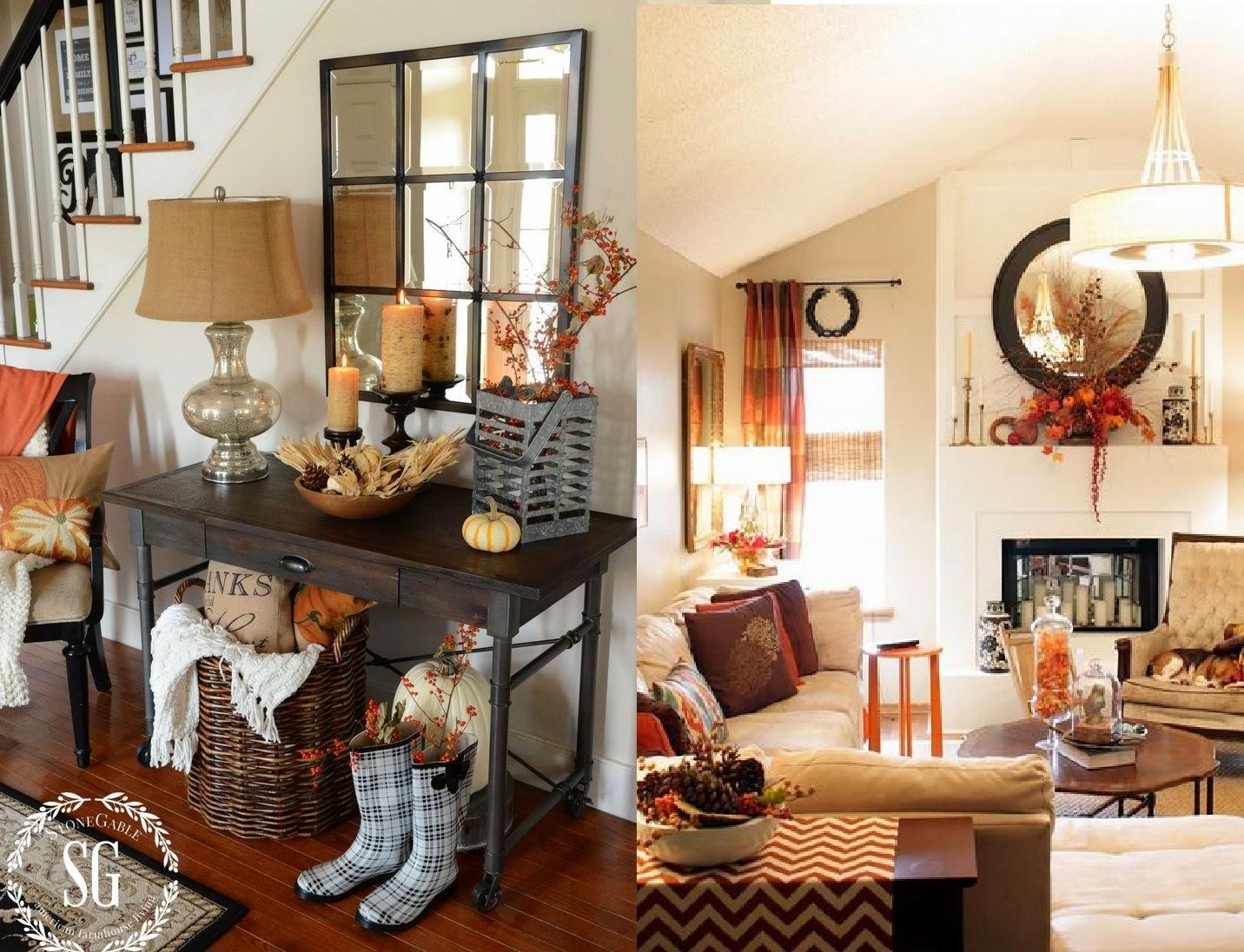 Ideas para decorar la sala para el Otoño  CASAS IDEAS