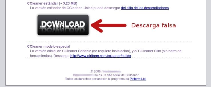 CCleaner falso solicita activación por SMS Ccleaner-falso-descarga