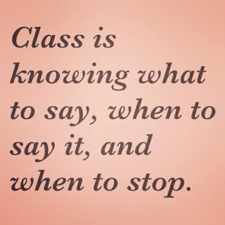class is knowing what to say life quote