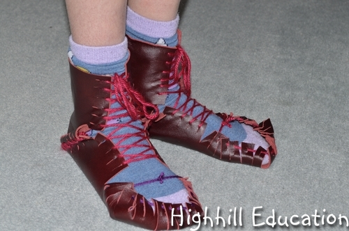 Highhill Homeschool Make Your Own Roman Shoes