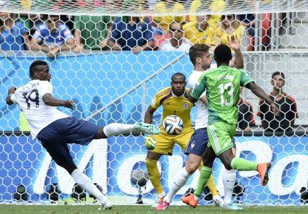 gambar Hasil pertandingan Prancis vs Nigeria dalam piala dunia Brasil 2014