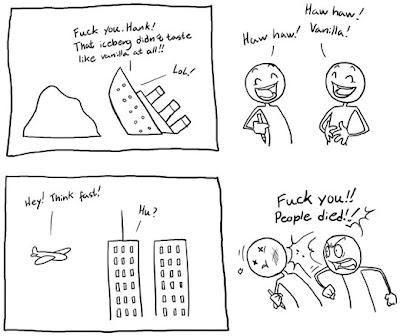 Funny comic titanic 9-11