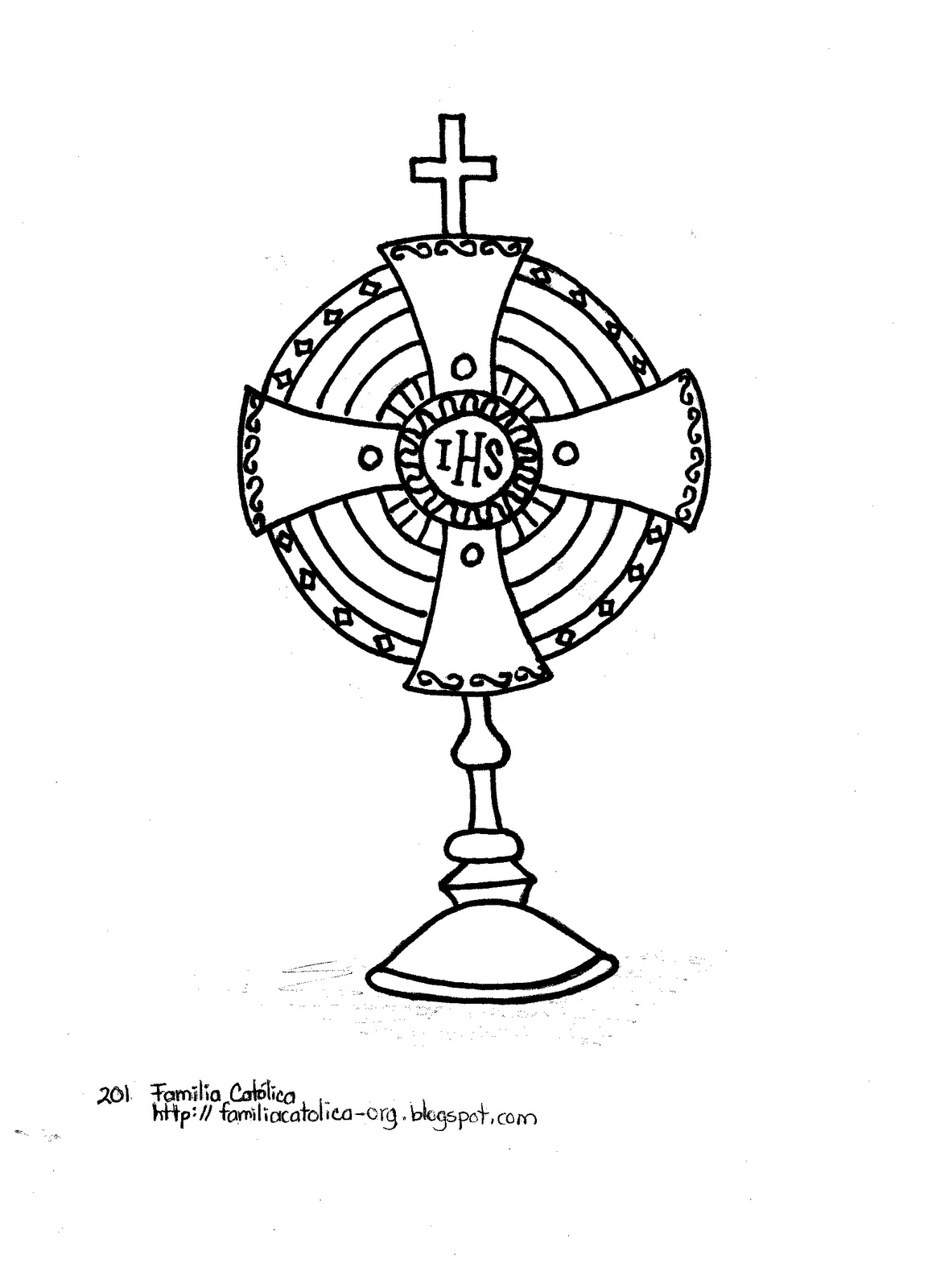 monstrance coloring pages for kids - photo#8