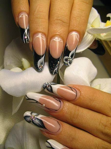 Black and White Nails Designs...