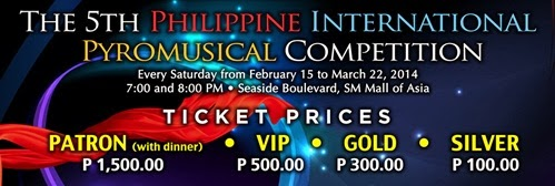 5th Philippine International Pyromusical Competition Ticket