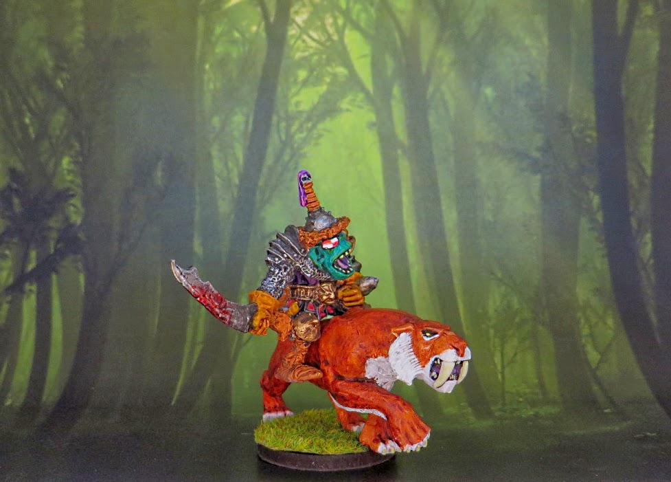 Orc, Warhammer, OOP, Kev adams, Boar rider, General, Citadel, 1988, 0505, Games Workshop, Celtos, Sabretooth, Amanthas
