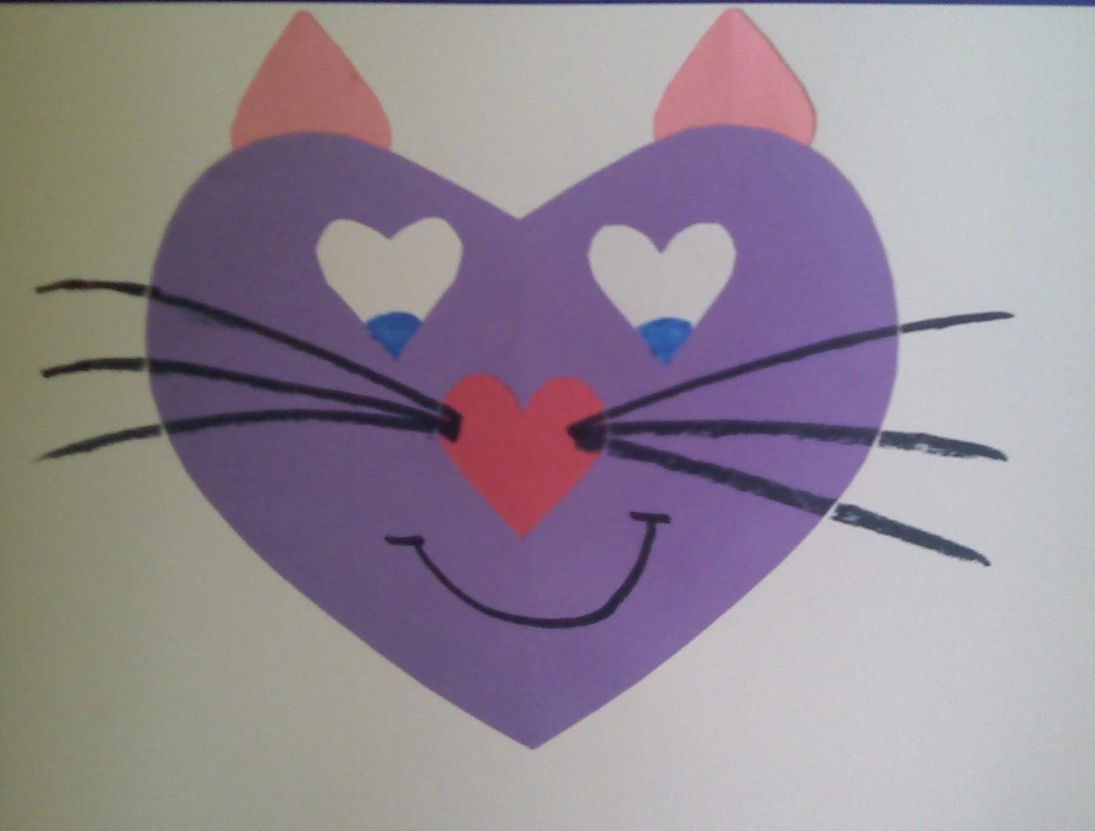 Crafts For Preschoolers Heart Animals