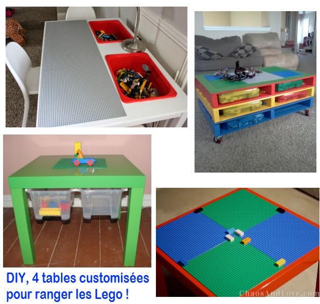 DIY} 4 tables à customiser pour ranger les Lego ! - Initiales GG ...