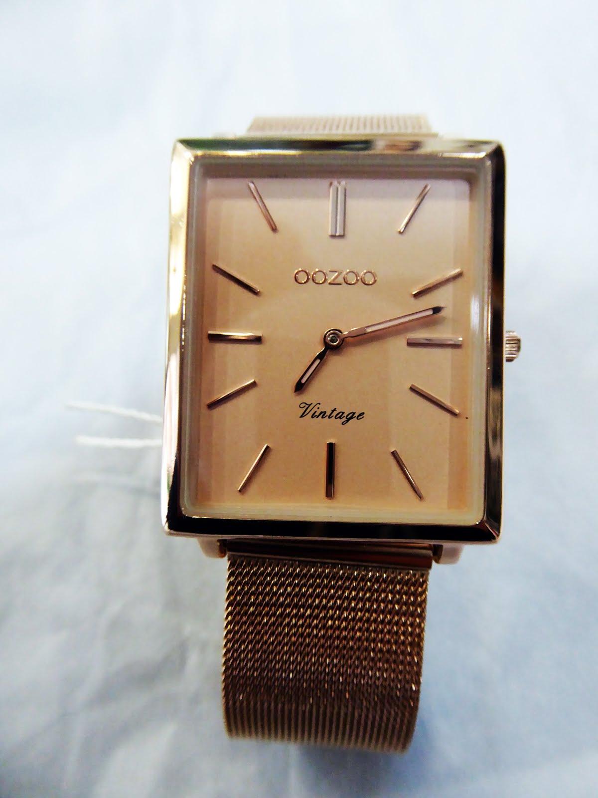 Reloj OOZOO de mujer, acero rosa