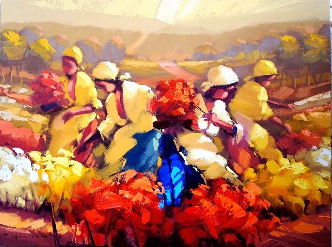 mujeres-en-paisajes-con-flores