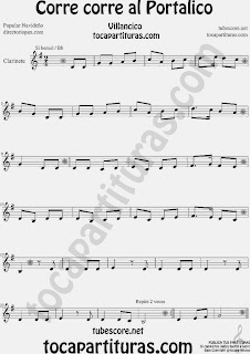 Partitura de para Clarinete Canción de Navidad Christmas Song Sheet Music for Clarinet Music Scores