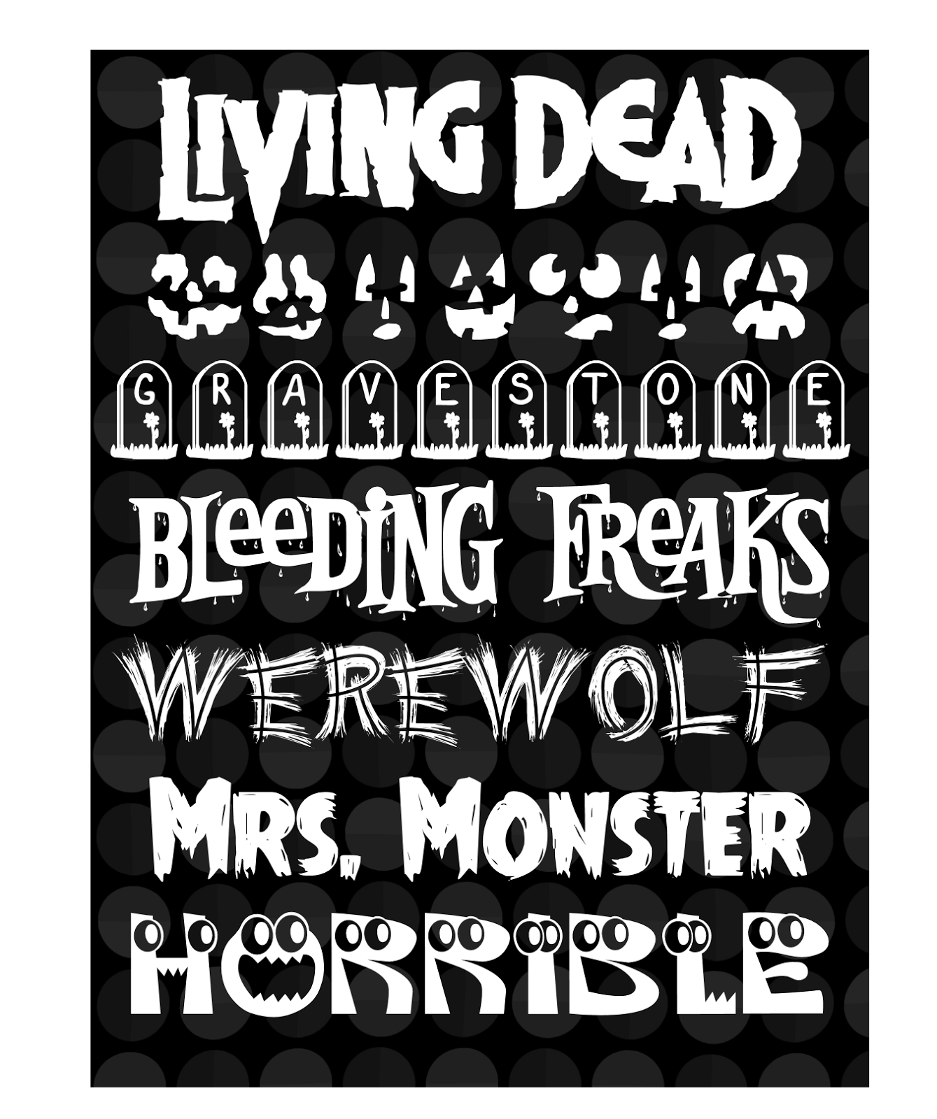 Creative Playground: The Spookiest Halloween Fonts and Zombies, Too!