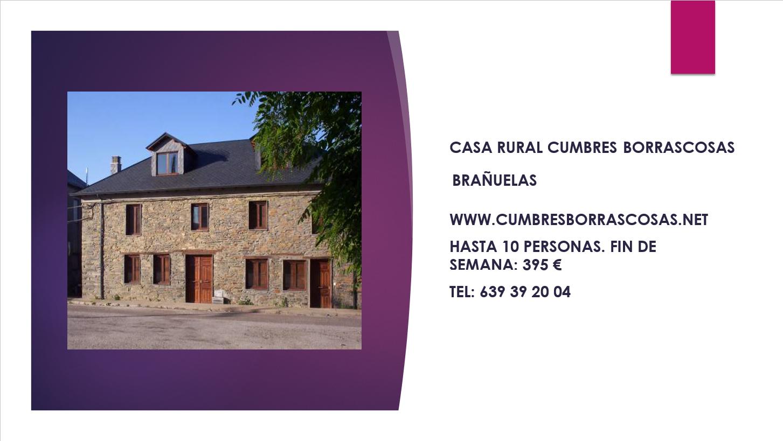 CASA RURAL CUMBRES BORRASCOSAS