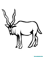 Antelope Printable Coloring Pages