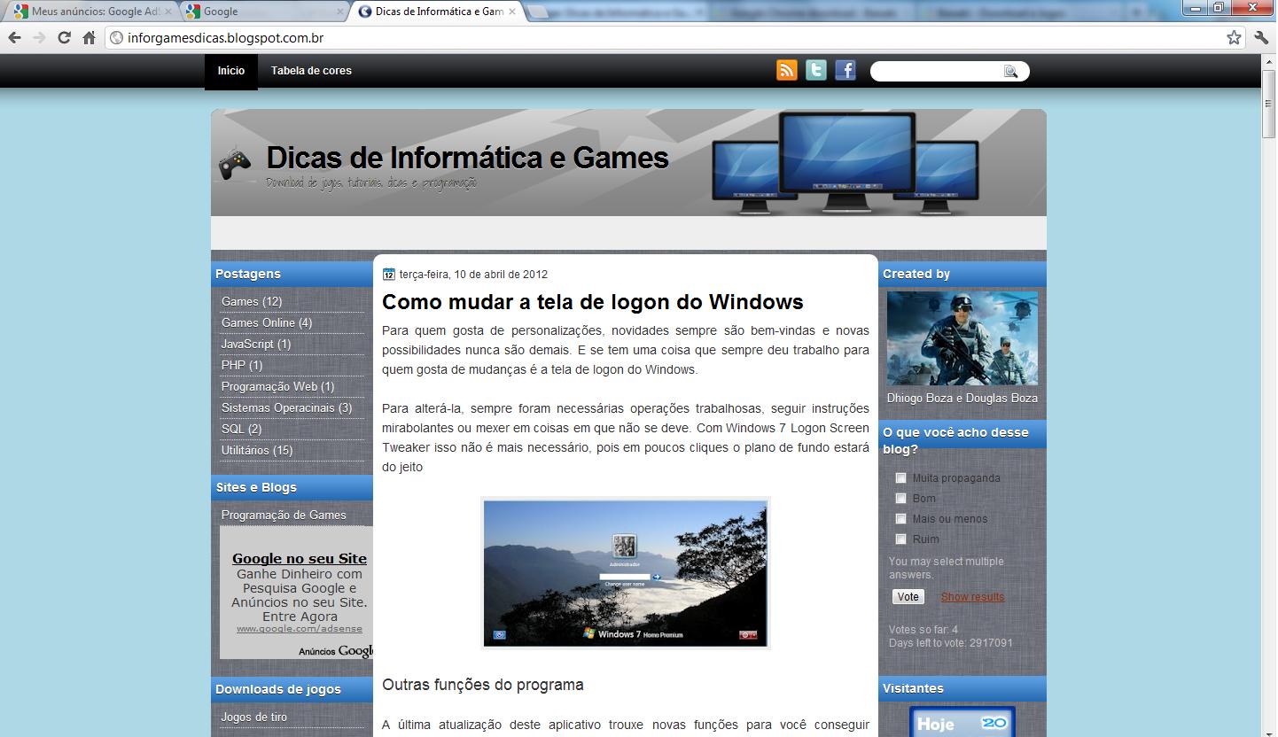 Download Google Chrome ~ Dicas de Informática e Games